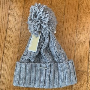 Michael Kors Cable Knit PomPom Beanie